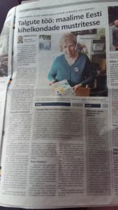 Talgukajastus ajalehes Harju Elu 29. märts 2018